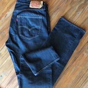 """LEVIS MENS 501 36""""x32"""" Dark Blue"""